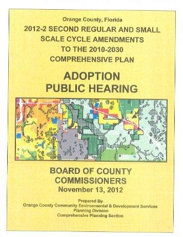 table of contents - Home | Orange County Gov FL