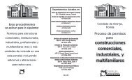 construcciones comerciales, industriales, y multifamiliares