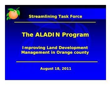 The ALADIN Program g - Permits & Licenses