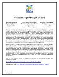 Grease Interceptor Design Guidelines