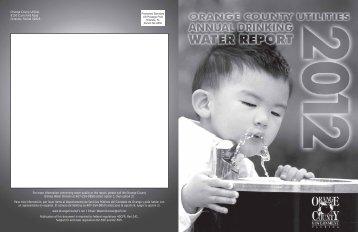 2012 Drinking Water Report - OrangeCountyFl.net