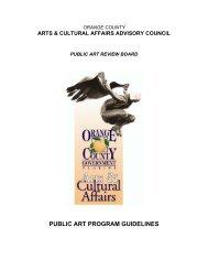 PUBLIC ART PROGRAM GUIDELINES - OrangeCountyFl.net