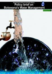 water policy brief - Ministry of Environment, Wildlife and Tourism