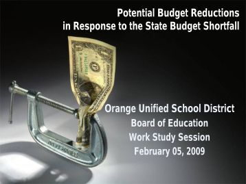 budget presentation - Orange Unified School District