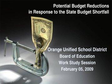 budget presentation - Orange Unified School District
