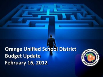 Budget Update Presentation to the Board of Education