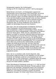 """Dostojewskis Legende """"Der Großinquisitor"""" Vortrag von Pfr. Dr ..."""