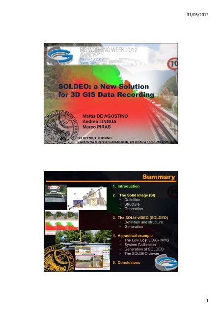 SOLDEO: a New Solution for 3D GIS Data Recording - FIG