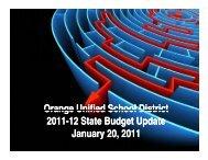Orange Unified School District 2011-12 State Budget Update J 20 ...