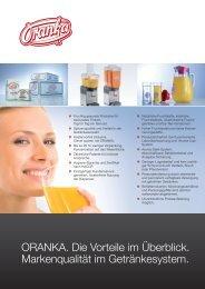 ORANKA. Die Vorteile im Überblick. - Wolfgang Jobmann GmbH