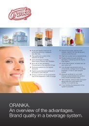 ORANKA. An overview of the advantages. Brand quality in a ...