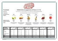 Produktblatt ORANKA Erfrischungsgetränke mit Vitamin C (1+19)