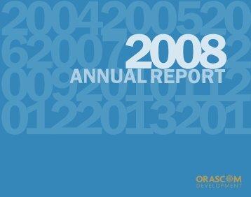 Annual Report 2008 - Orascom Development