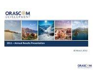 FY 2011 - Orascom Development