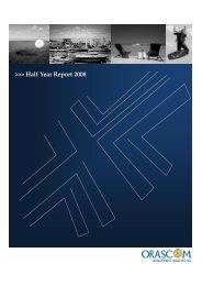 Half Year Report 2008 - Orascom Development