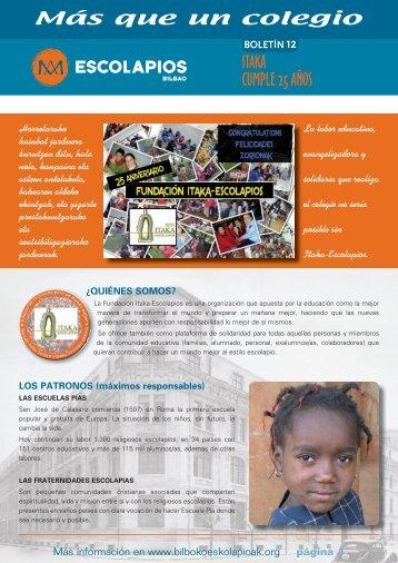 página 1 - Escolapios. Escuelas Pías Emaús