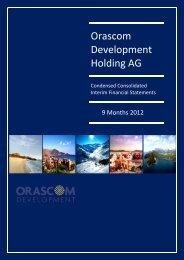 Annual Report 2008 Orascom Development