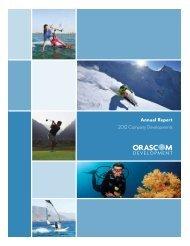FY 2012 Annual Report - Orascom Development