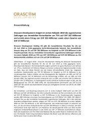 Pressemitteilung Orascom Development steigert im ersten Halbjahr ...