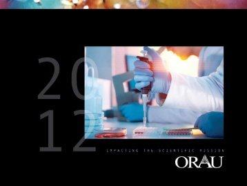 full PDF of the 2012 ORAU Annual Report - Oak Ridge Associated ...