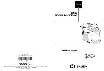 BDA Laserfax MF 3620 SMS / 3620 SMS deutsch - Fax-Anleitung.de