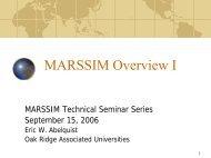 MARSSIM Overview I - Oak Ridge Associated Universities