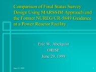 Comparison of Final Status Survey Design Using MARSSIM ...