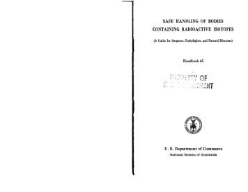 safe handling of bodies containing radioactive isotopes