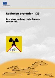 Low Dose Ionizing Radiation and Cancer Risk - European ...