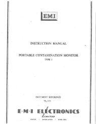 EMI Electronics. Portable Contamination Monitor Type 1.