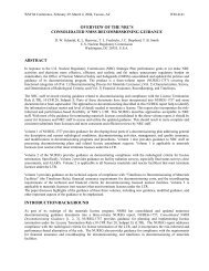 overview of the nrc's consolidated nmss decommissioning guidance ...
