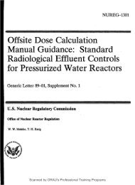Offsite Dose Calculation for Pressurized Water Reactors