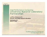 University–National Laboratory Partnerships - Oak Ridge ...