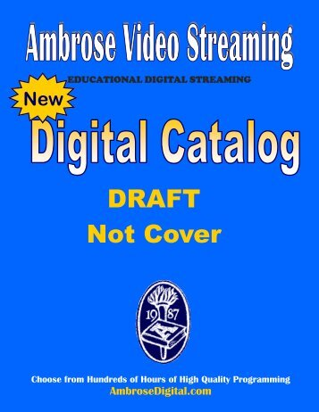 Ambrose Digital Draft Catalog - Orbis Cascade Alliance
