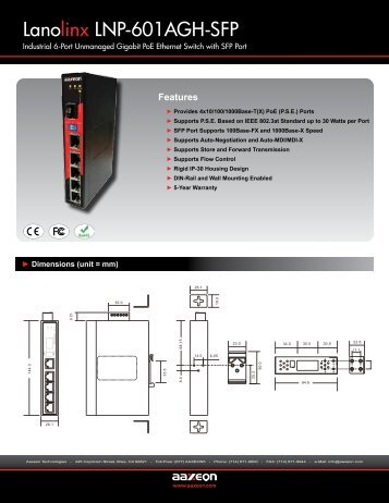 LNP-601AGH-SFP(-T) - PRWeb