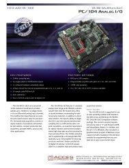 PC/104 ANALOG I/O - Orbit Micro
