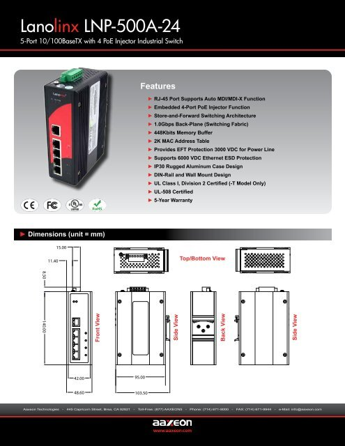 Lanolinx LNP-500A-24 - Orbit Micro