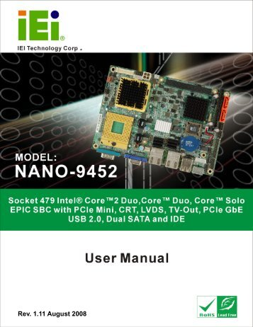 NANO-9452 EPIC Motherboard - Orbit Micro
