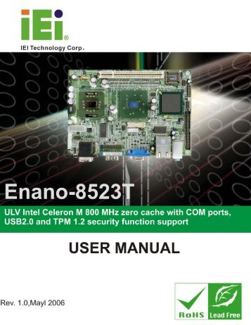 Enano-8523T User Manual - iEi