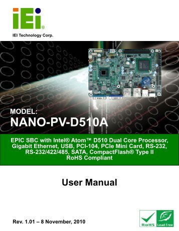 NANO-PV-D510A User Manual