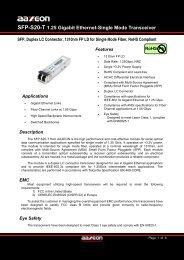 SFP-S20-T 1.25 Gigabit Ethernet-Single Mode ... - Orbit Micro