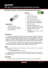 SFP-S10 1.25 Gigabit Ethernet-Single Mode Transceiver - Antaira