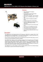 USB-68101K 2+1 Port USB 2.0 PCI Express Host ... - Orbit Micro