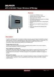 APX-3100 Datasheet - Orbit Micro