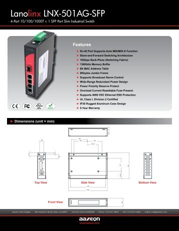Lanolinx LNX-501AG-SFP - Orbit Micro