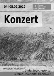 Programmheft WiSe 2011/2012 - collegium musicum - Leibniz ...