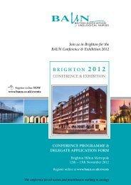 conference programme & delegate application form - Orchid