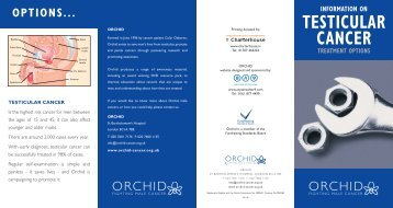 information on testicular cancer treatment options - Orchid