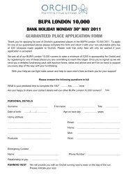 BUPA LONDON 10000 BANK HOLIDAY MONDAY 30th ... - Orchid