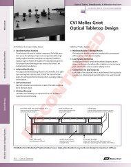 Selecting an Optical Tabletop - CVI Melles Griot